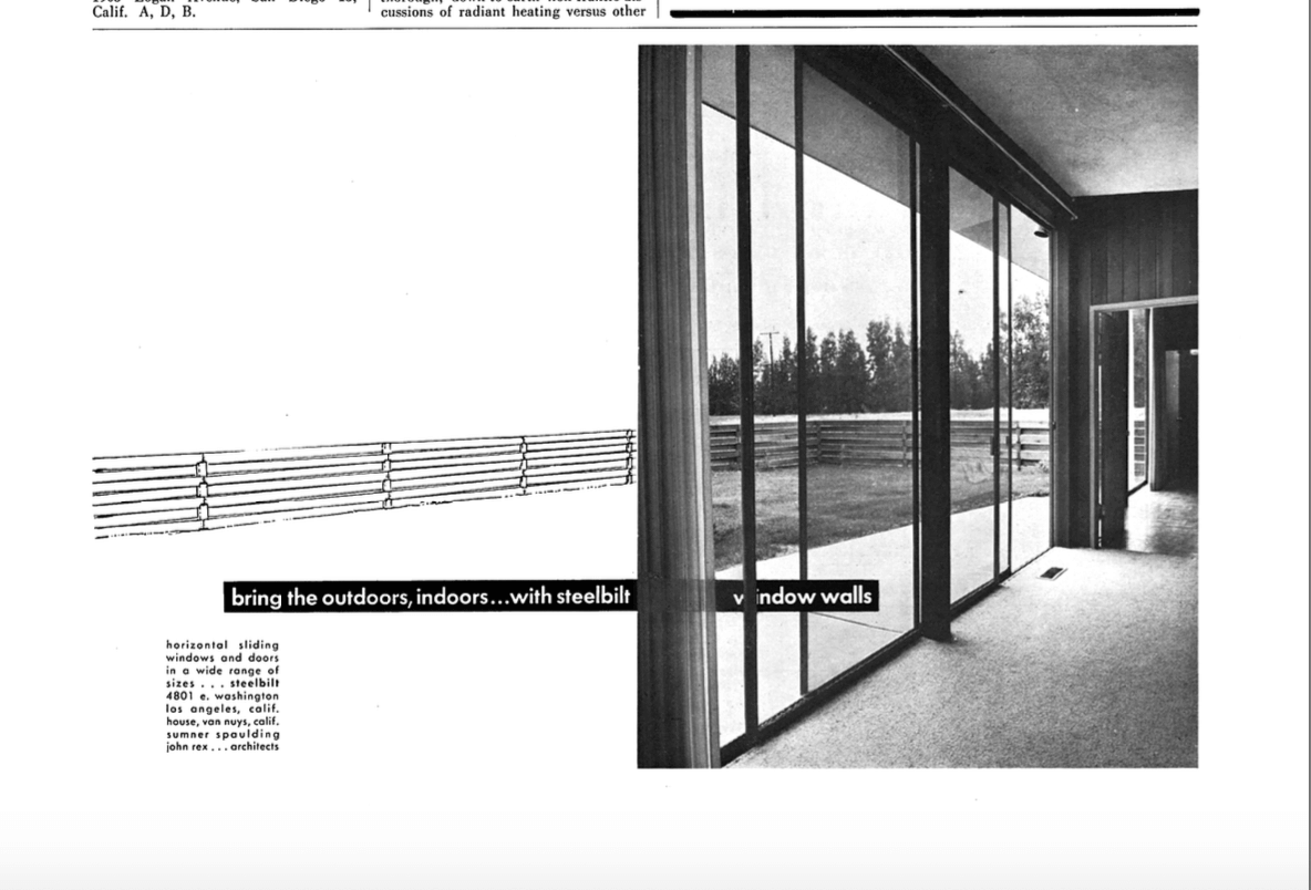 Steelbilt Advertisement Featuring Case Study House No.1 (J. R. Davidson),  No.2 (Wurster, Bernardi And Emmons), No. 3 (Raphael Soriano) And No.