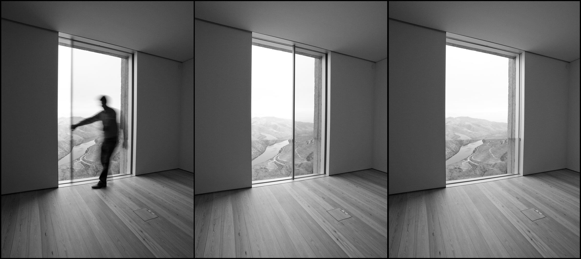 Brief Technical And Architectural History Of The Minimalist Window - Minimalistic black white photo series captures energetic movements mid air